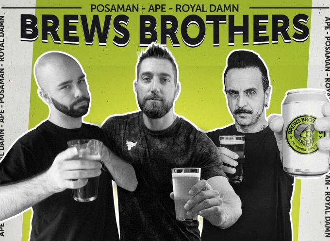 """""""Versa Qui"""" è il nuovo singolo dei Brews Brothers: Ape, Posaman e Royal Damn"""