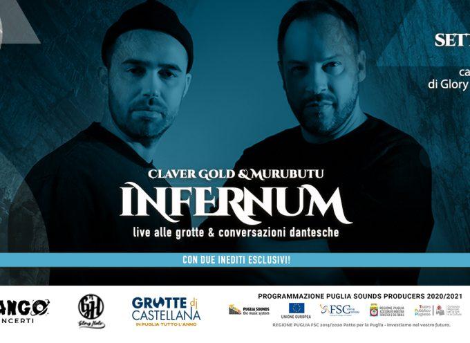Claver Gold e Murubutu annunciano il live streaming esclusivo dalle Grotte di Castellana
